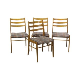 1960s Vintage Poul Volther for Soro Stolefabrik Danish Dining Chairs- Set of 4 For Sale