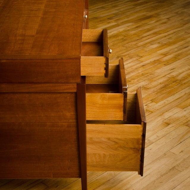 Mid-Century Walnut Desk With Side Extension Designed by John Van Koert for Drexel For Sale - Image 12 of 13