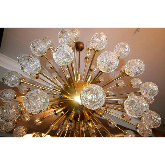 Rose Murano Glass Sputnik Chandelier For Sale In Los Angeles - Image 6 of 9