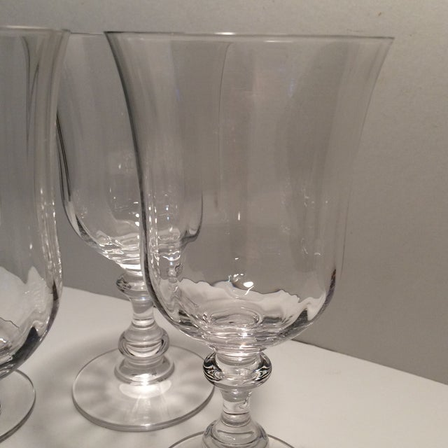 "Vintage Crystal Mikasa ""French Country"" Water Goblets - S/4 - Image 11 of 11"