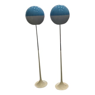 1970s Vintage Italian Floor Lamps - A Pair For Sale