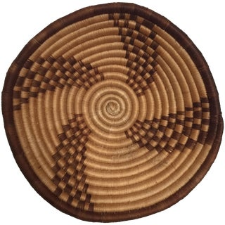 Woven Tribal Basket Wall Hanging For Sale