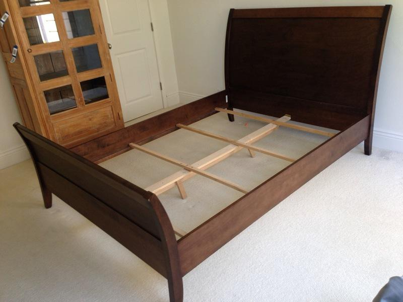 Baronet Contemporary Carved Wood Full Size Sleigh Bed Chairish