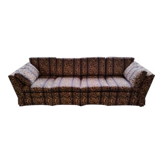 Vintage Mid Century Brown Sofa For Sale
