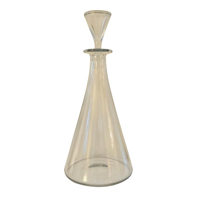 Baccarat Mid Century Modern Crystal Decanter For Sale