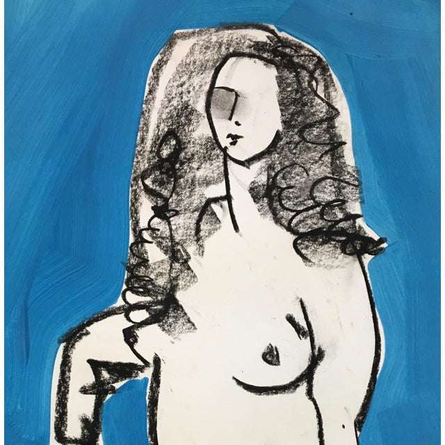 Drawing from the model - gesture drawing of the beauty of a woman.