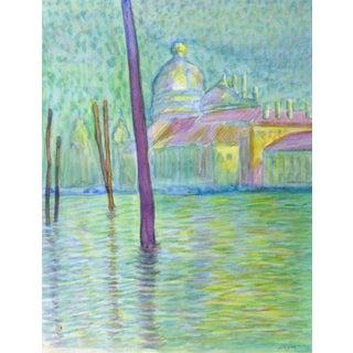 Watercolor Landscape - Venice For Sale