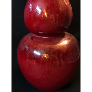 19th C. Chinese Oxblood Sang De Boeuf Langyao Flambe Glazed Double Gourd Huluping Bottle Vase Preview
