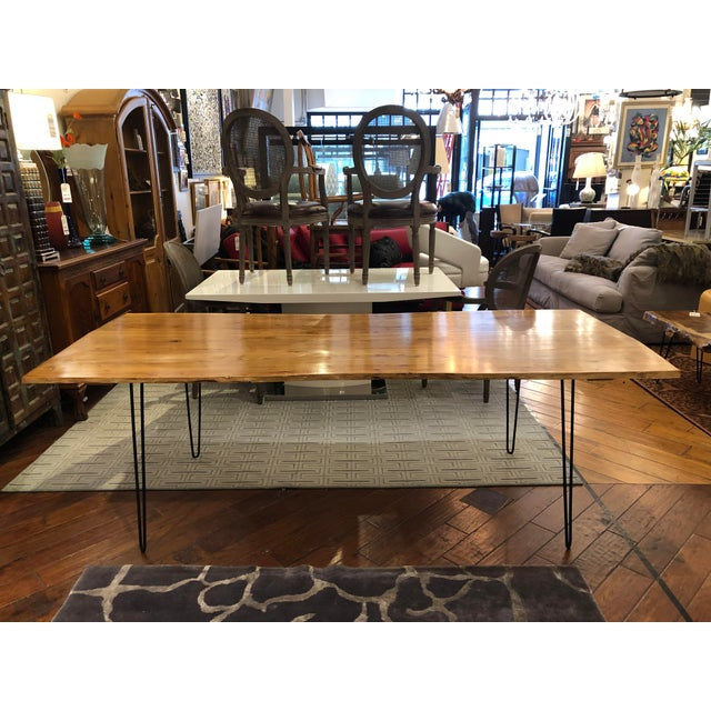 Custom Live Edge Wood Table For Sale - Image 11 of 11