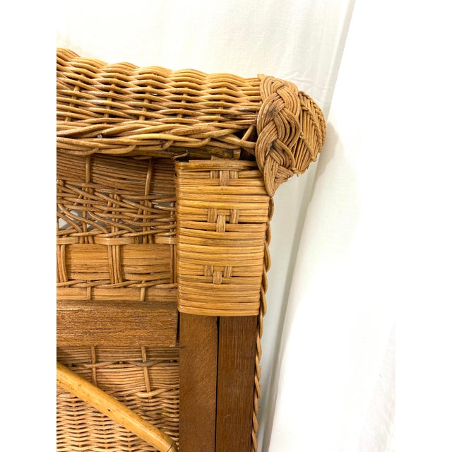 1960s Queen Size Wicker Headboard For Sale - Image 10 of 13