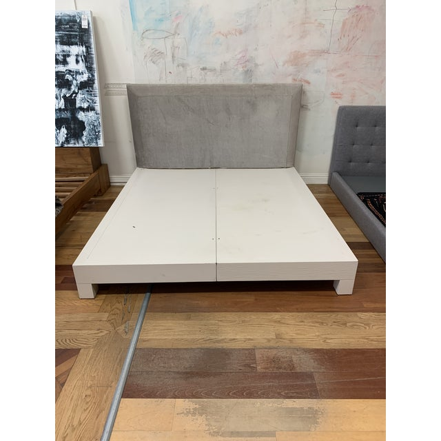 Contemporary Eastern King Donghia Ginger Fabric Upholstered Platform Bed For Sale - Image 3 of 11
