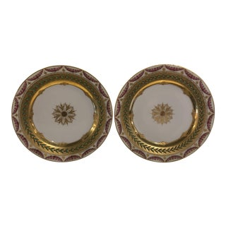 19th Century Traditional Gilt Decorated Plates - a Pair