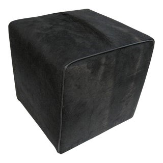 Modern Black Waterfall Ottoman For Sale