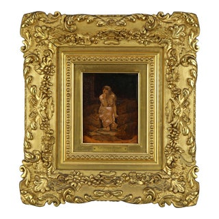 "Late 19th Century ""Circassian Beauty"" Oil Painting by Benjamin Constant, Framed For Sale"