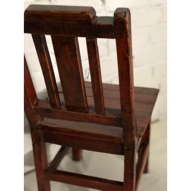Wood 20th Century Qing Style Child's Chair For Sale - Image 7 of 10