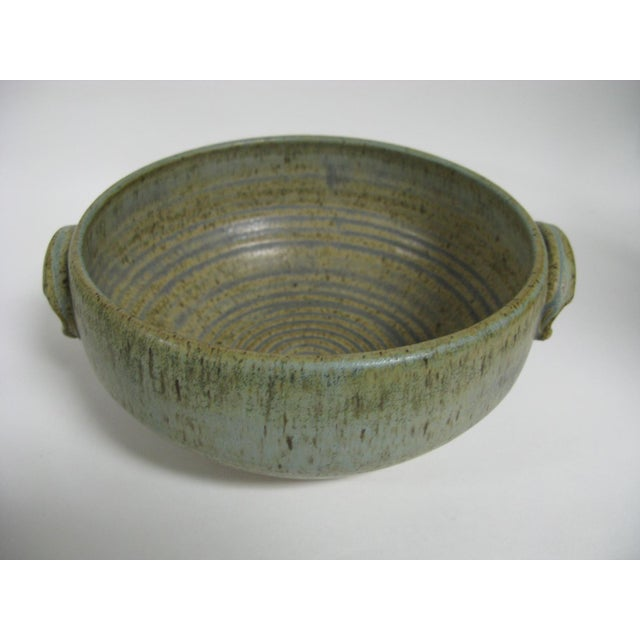 1970s Mid Century Modern Studio Pottery Bowl For Sale - Image 13 of 13