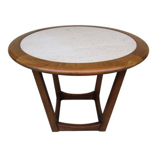 Adrian Pearsall Style Travertine Top Side Table For Sale