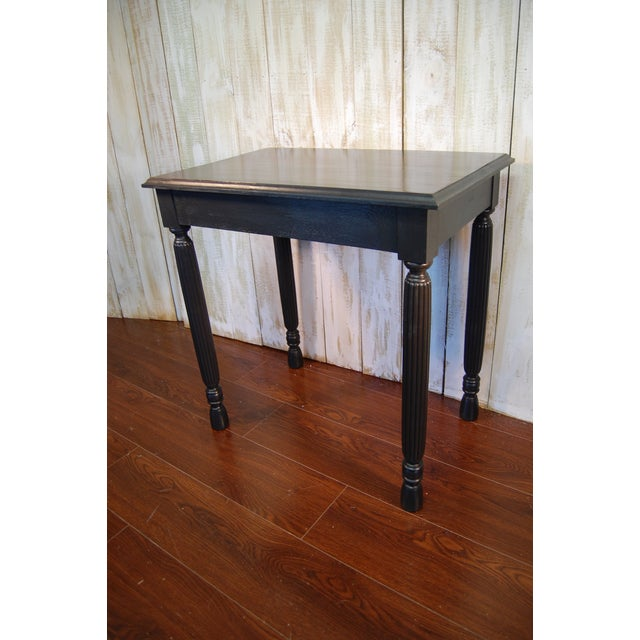 Black Table with Jewel Toned Surface - Image 2 of 8