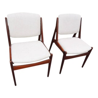 "1950s Vintage Arne Vodder ""Tilt Back"" Dining Chairs - a Pair For Sale"
