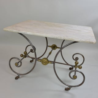 Bakery Table With White Marble Top Preview