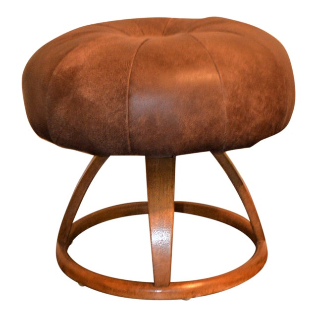 1950s Vintage Bentwood Swivel Stool For Sale