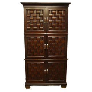 "Pulaski Furniture Contemporary Modern 47"" Media Armoire W. Woven Door Design 289121 289120 For Sale"