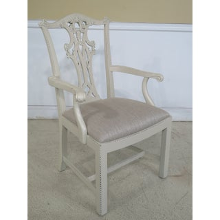 Hickory Chair Co. White Chippendale Dining Room Chairs - Set of 8 Preview