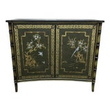 Image of Chinoiserie Style Hand Painted Cabinet For Sale