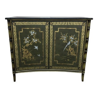 Chinoiserie Style Hand Painted Cabinet For Sale
