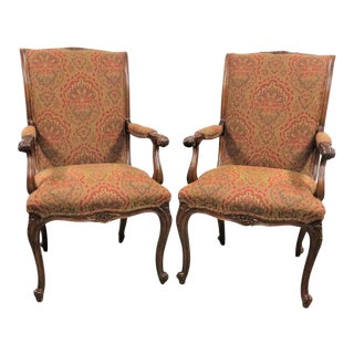 Louis XV E J Victor Carved Walnut Side Chairs - a Pair For Sale