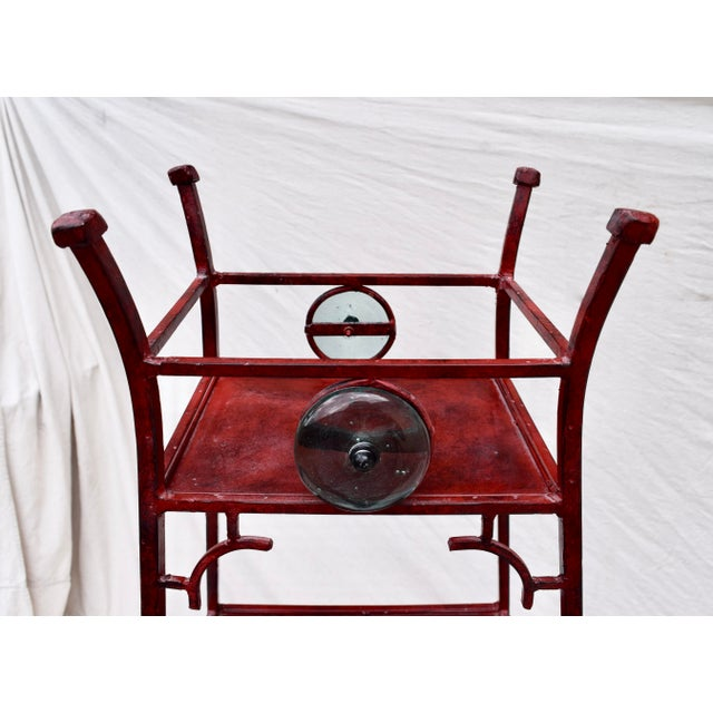 Metal Iron Chinoiserie Pagoda Etagere by Palecek For Sale - Image 7 of 9