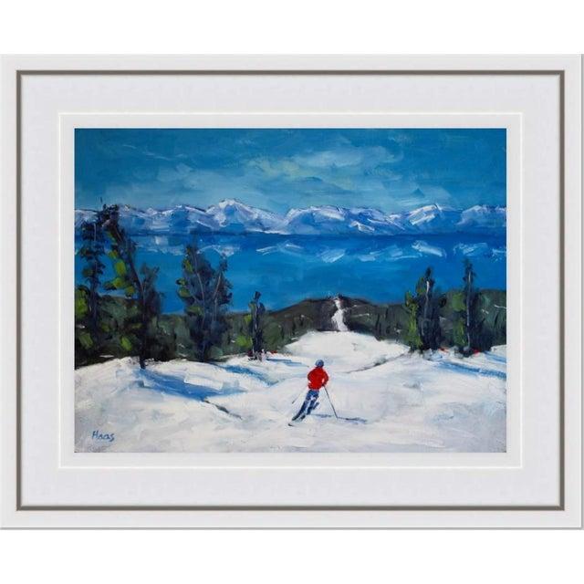 Diamond Peak Run Original Oil Painting Landscape For Sale - Image 10 of 12