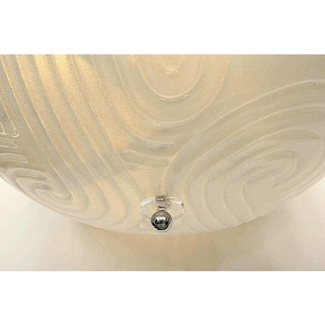 Mid-Century Modern Mid-Century Modern Murano Glass Chandelier With Chrome, Attr to Mazzega For Sale - Image 3 of 5
