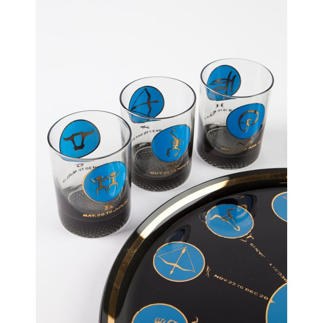 Boho Chic 1960's Zodiac Barware Set For Sale - Image 3 of 10