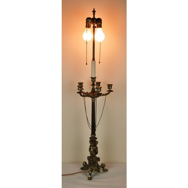 Neo classical candelabra table lamp chairish neo classical candelabra table lamp image 7 of 8 aloadofball Choice Image