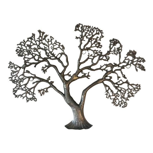 Mid-Century Industrial Aluminum Tree of Life - Image 1 of 11