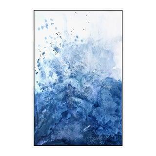 "Watercolor ""Blue Salt"" - Framed Giclee Print 32"" x 48"""
