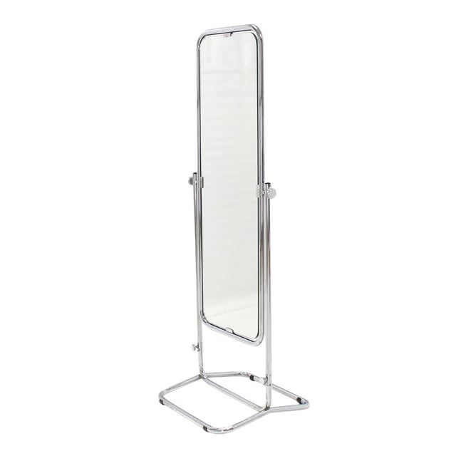 1950s Vintage Mid-Century Modern Cheval Mirror For Sale - Image 10 of 10