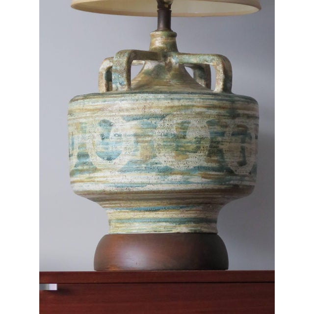 1950s Large Raymor Ceramic Lamp For Sale In Tampa - Image 6 of 9