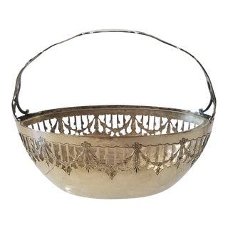 Sterling Silver Basket For Sale