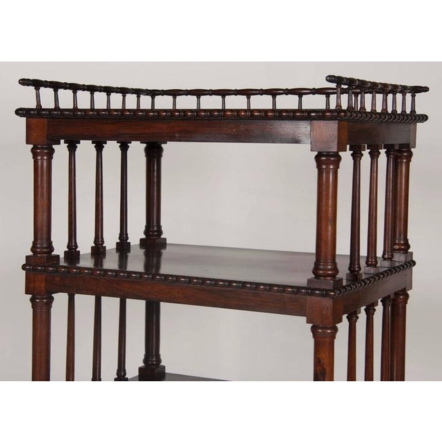 William IV Rosewood Whatnot/ Etagere For Sale - Image 4 of 10