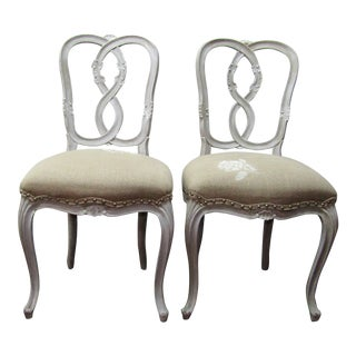 Vintage Figure 8 Wood Frame Chairs- A Pair For Sale