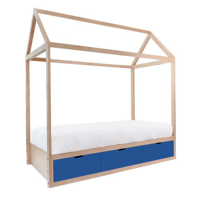The Domo Zen Full Maple Wood Canopy Bed with Drawers. Custom craftsmanship designed to last for generations and grow with...
