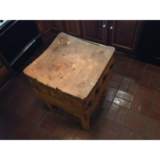 Vintage 1930's Maple Chopping Block Table - Image 6 of 7