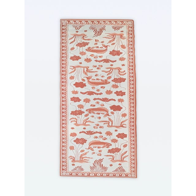 Custom Edward Fields Long Coral and Cream Runner- 5′6″ × 19′ For Sale - Image 9 of 9