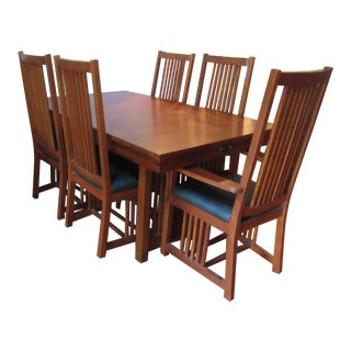 Kimball Mission Style Arts and Crafts Dining Set - 7 Pieces For Sale