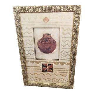 Isabelle De Borchgrave Vintage Print, Framed Pottery Art, Shadowbox Art For Sale