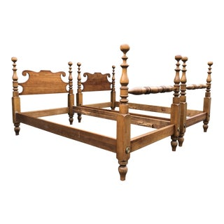 Leopold Stickley Solid Cherry Twin Beds- a Pair For Sale