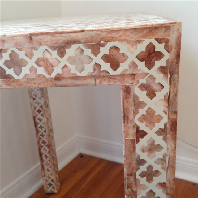 HD Buttercup Shell Inlay Trellis Console - Image 11 of 11