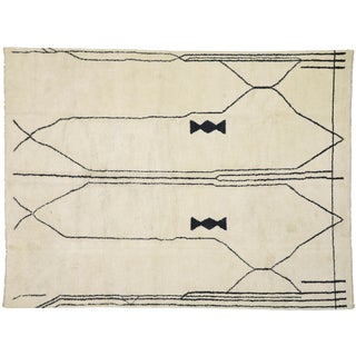 """Contemporary Moroccan Rug - 10' X 13'3"""" For Sale"""